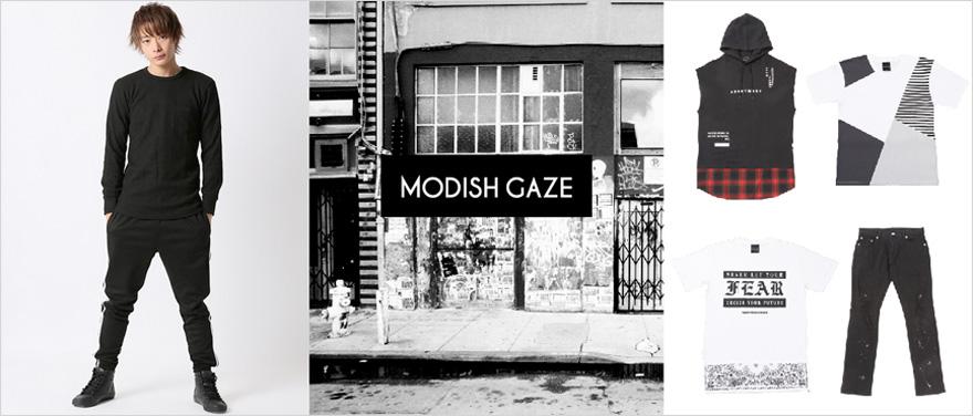 メンズストリートカジュアルブランド modishgaze